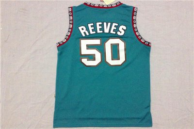 Wholesale Memphis Grizzlies 50 Bryant Reeves Green Revolution 30 Basketball PVY2556