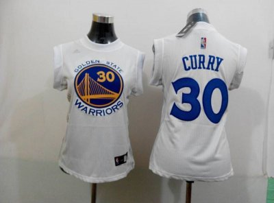 Wholesale price 2015 Women Apparel Golden State Warriors #30 curry white AXT4301