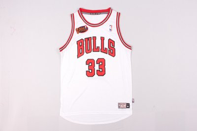 easy to buy #33 Pippen Bulls final white NBA (heat applied) PKT746