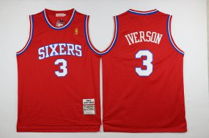internet sale Philadelphia 76ers #3 Iverson Jersey red 2016 The Season UTW3261