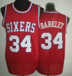 transaction Philadelphia 76ers #34 Jersey Charles Barkley Red WXO3287