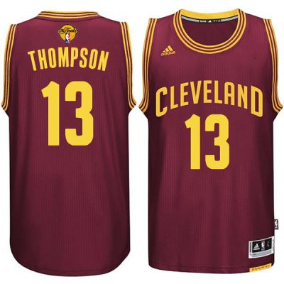 100% Hight Quality NBA Cleveland Cavaliers #13 Tristan Thompson 2015 16 Finals Red SNT262