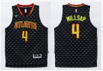 Authentic Atlanta Hawks #4 Paul Millsap Black Clothing Swingman Stitched AHB370