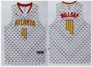 Beautiful Atlanta Hawks Merchandise #4 Paul Millsap White Swingman Stitched CUJ372