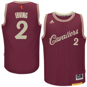 Buy Cheap Cavaliers #2 Kyrie Jerseys Irving Red 2015 2016 Christmas Day Stitched NEK983