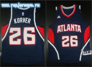 Buy Discount Atlanta Jerseys Hawks #26 Korver blue CKR362