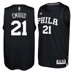 Cheap 2018 Philadelphia 76ers #21 Joel Embiid Black Clothing Swingman CKN3223