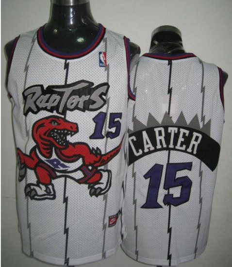 Cheap New Style Toronto Raptors Clothing Vince Carter  15 White TGU3963 9b7d02e5a