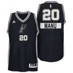Cheap Online Sale San Antonio Spurs #20 Jerseys Manu Ginobili Christmas Day Big Logo Swingman Black ZBO3672
