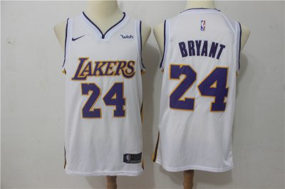 Cheap Quality Los Angeles Lakers Jersey #24 Kobe Bryant White Nike Swingman OTY2326
