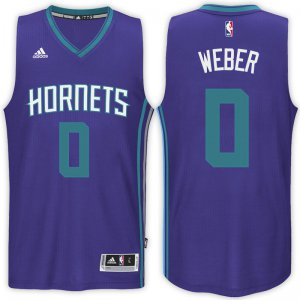 Durable Charlotte Hornets #0 Briante Weber 2016 17 Road Purple Apparel Swingman CUK613