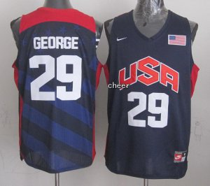 Durable The united States #29 Jersey George blue ZST4088