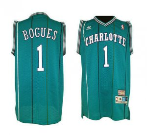 Free delivery Replicas Charlotte Hornets Basketball #1 Muggsy Bogues Green BRJ635