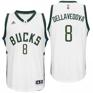 Full of charm Milwaukee Bucks Matthew Dellavedova 2016 Home Basketball White Swingman YDG2813