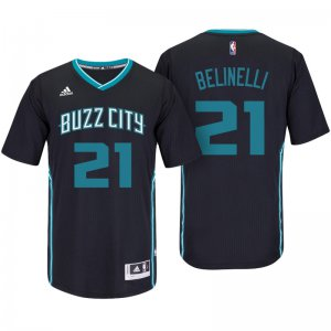 High Quality Charlotte Hornets #21 Marco Belinelli Black Pride Sleeved Swingman Basketball TJD608