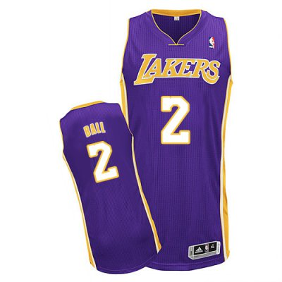 High cost performance Lakers #2 Lonzo Jerseys Ball Purple Stitched NTC2341