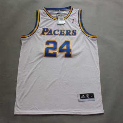 Hot 2018 Paul George #24 Indiana Pacers throwback white Clothing ZOR2028