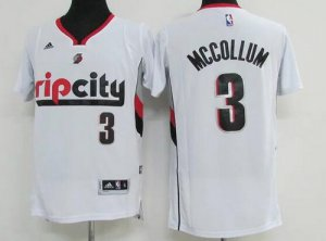 Hot Deal Apparel Portland Trail Blazers #3 C. J. McCollum Revolution 30 Swingman Rip City White VNW3462