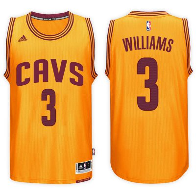 New Style Cleveland Cavaliers #3 Derrick Williams 2016 17 Apparel Alternate Gold Swingman VIV1023