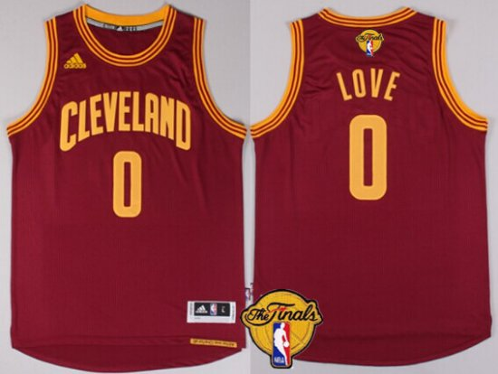 81b0443831d New Trend Cleveland Cavaliers  0 Kevin Love 2016 The Finals Patch Clothing  Red JEU257