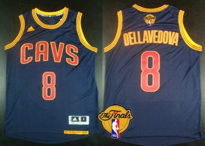 Novelty Cleveland Clothing Cavaliers #8 Matthew Dellavedova 2016 The Finals Patch Navy Blue RCQ299