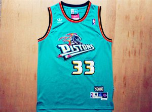 Online Sale 2018 Detroit Pistons 33 Grant Hill Jersey Swingman Throwback Green Jerse YDM1410