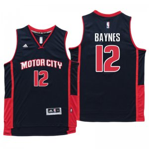 Online Sale Detroit Pistons #12 Aron Baynes Motor City Navy Blue Swingman Clothing HWZ1374