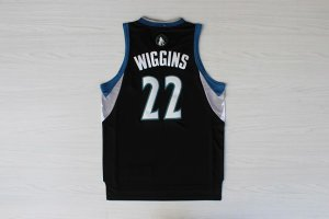 Real Minnesota Timberwolves #22 Andrew Wiggins Basketball Alternate Black FOF2874
