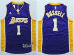 Seiko Cup Lakers NBA #1 D'Angelo Russell Purple Stitched BPD2417