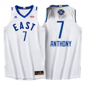 Shop Cheap 2016 All Star Eastern Conference Knicks #7 Carmelo Anthony Gear White FSZ314