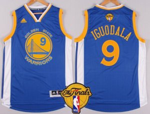 Shopping Golden State Warriors #9 NBA Andre Iguodala Blue 2016 The Finals Patch RQX40