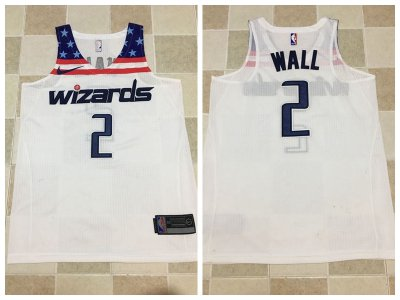 Tailored John Wall Washington Wizards 2017 Jerseys white 12 WXE4175