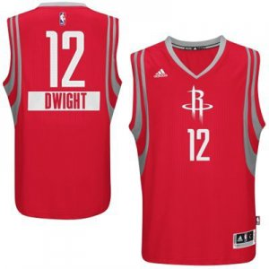 The good business Houston Rockets 12 Basketball DWIGHT 2014 Christmas Day Big Logo Red Swingman JKL1935
