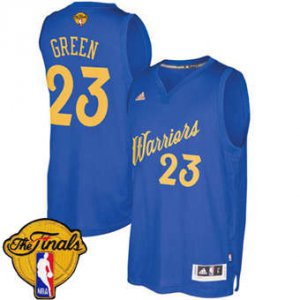 The good business Warriors #23 Draymond Green Blue 2016 2017 Christmas Day The Finals Patch Stitched Gear TEL1838