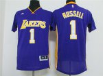 Wholesale Los Angeles Lakers 1 russell Merchandise t shirt purple NPN2410
