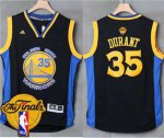 Wholesale Warriors #35 Kevin Durant Blue Road The Finals Patch Apparel Stitched XJM1867