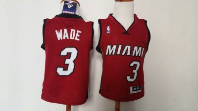 internet sale Toddler Miami Heat #3 Dwyane Wade Apparel Red Stitched VFF2043
