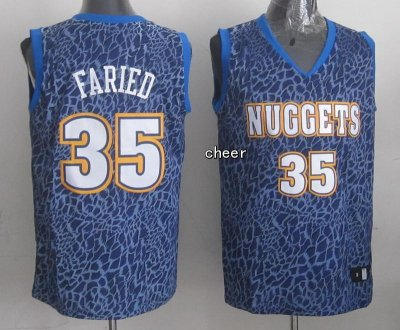 sport polyester fabric Apparel Denver Nuggets #35 Faried Crazy Light Swingman IMI1327