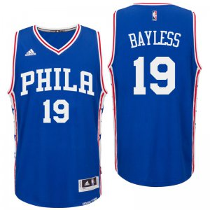 sport polyester fabric Philadelphia 76ers #19 Jerryd Bayless 2016 Road Blue Basketball Swingman CKO3237