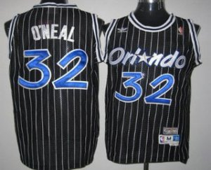 100% Hight Quality Orlando Magic #32 Shaquille NBA O'neal Black Hardwood Classics Soul Swingman Throwback UGO3182