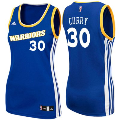 100% Hight Quality Women's 2017 Mother's Day Golden NBA State Warriors #30 Stephen Curry Crossover Royal Swingman WUO4238