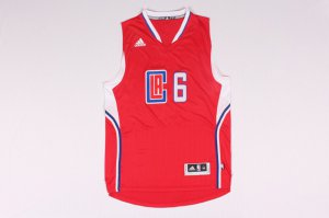 2018 Online Los Angeles Clippers #6 DeAndre Jordan Apparel Road Red STV2286