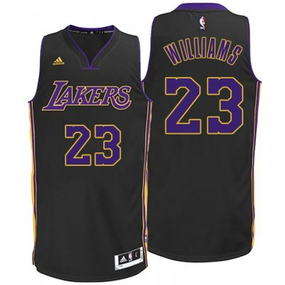 65% Discount Los Angeles Lakers #23 Lou Williams Hollywood Nights Jersey Black IKX2388