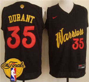 Activities in sales Warriors #35 Kevin Durant Black The Finals Patch Stitched Apparel JJC1859