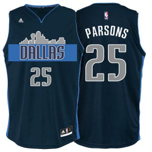Assorted colors Dallas Mavericks #25 Chandler Parsons Cityscape Navy Blue Gear Alternate YMH1270