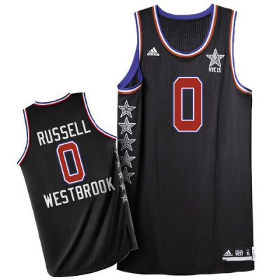 Authentic 2015 all star western 0 russell Jerseys westbrook black NTR165
