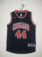 Authentic #44 Jerseys Mirotic Chicago bulls black UJE754