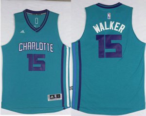 Best Cheap Basketball Revolution 30 Hornets #15 Kemba Walker Light Blue Stitched KHV623