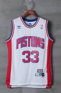 Best Detroit Pistons 33 Grant Hill Jerseys Rev 30 Swingman Throwback White ENS1379