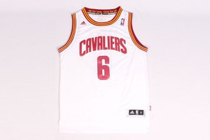 Big Discount 6 Lebron James come back Cleveland Cavaliers white NBA MBN1193